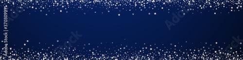 Fototapeta Amazing falling stars Christmas background. Subtle obraz na płótnie