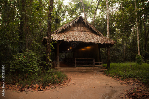 Fototapeta hut in the jungle