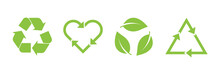 Recycle Vector Icon Set. Arrow...
