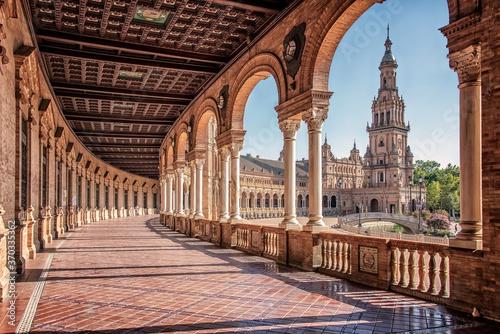 Plaza de Espana in Seville, Andalusia, Spain Fototapet
