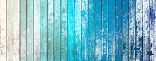 Abstract Blue Wood Background