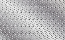 Vector Rugged Metal Relief Background. Illustration Of Steel Background. Anti-slip Shiny Metal Floor Texture.