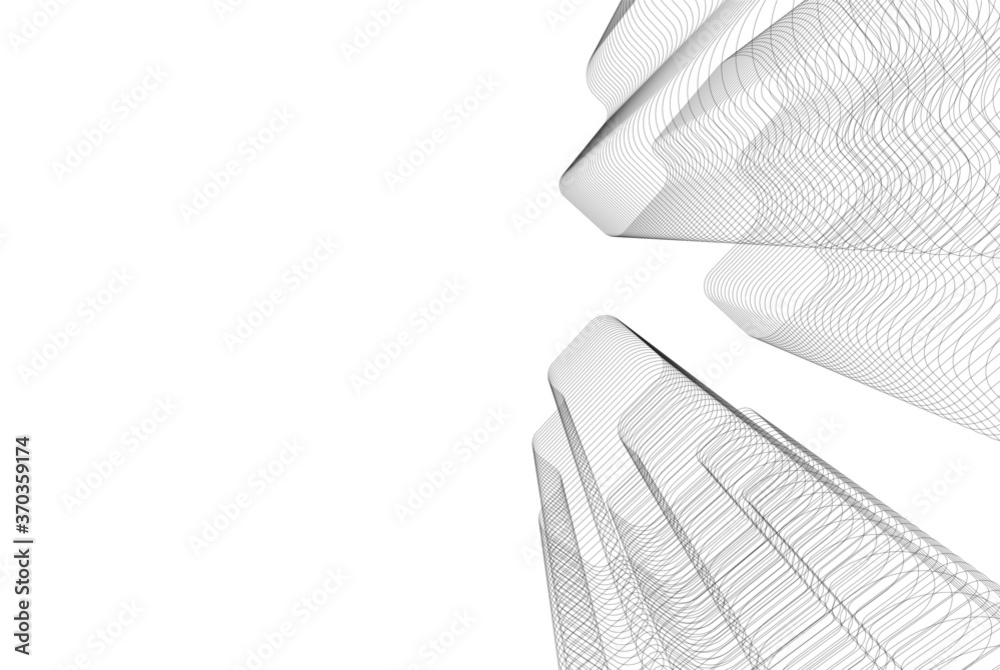 Fototapeta architecture building vector 3d illustration