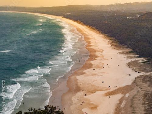 Beach in Australia, Byron Bay Fotobehang