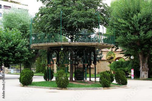 Soria music kiosk in the Alameda de Cervantes park