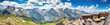 canvas print picture - Blick von der Edelweißspitze an der Großglockner-Hochalpenstraße auf die Hohen Tauern, Österreich