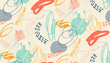 Creative Doodle Seamless Freeh...