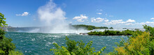 Upper Part Of The Niagara Falls, Wiht The View Of The Horseshoe Falls Edge, Ontario, Canada