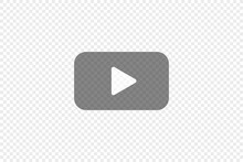 Transparent Play Button, Simple Icon For Your Design. Video Symbol Concept In Vector Flat