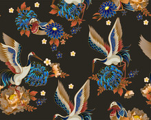 Seamless Pattern With Mandarin...