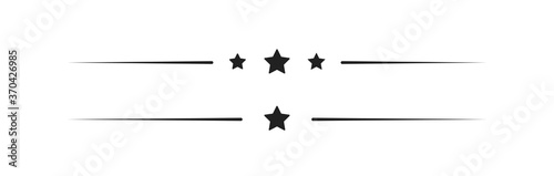 Obraz Frame, simple line element set. Border design decor in vector flat - fototapety do salonu