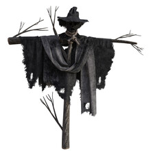 Tall Scary Scarecrow Isolated ...