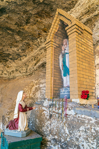 Fotografie, Obraz Our Lady of Bernadette of Lourdes Outdoors Catholic Shrine Cebolleta New Mexico