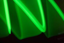 Neon Swirls And Lines Retro Abstract Light Streaks