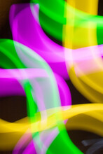 Neon Swirls And Lines Retro Abstract Light Streaks