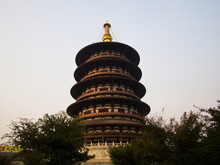 Big Tower In Luoyang Ruins Of Sui And Tang Dynasty, Mingtang And Tiantang Scenic Area.Luoyang City, Henan Province, China, 14th October 2018.