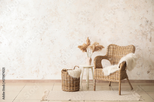 Fototapeta Interior of room with comfortable armchair