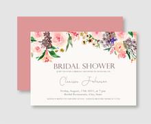 Pink Rose Floral Bridal Shower...