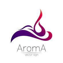 Aroma Vector Logo Symbol In Cr...