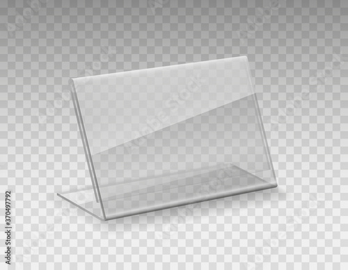 Stand, acrylic table tent, card holder isolated on transparent background Fotobehang