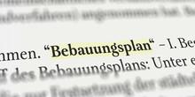 Bebauungsplan Im Buch Mit Text...