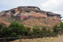 Sandstone Cliffs Of The Maluti Mountains In Golden Gate Highlands National Park, Free State, South Africa