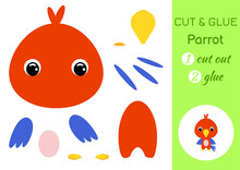 Cut And Glue Baby Parrot. Educ...