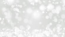 Abstract Snowfall, White Bokeh...