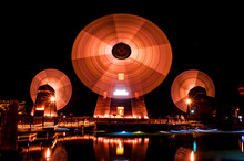Wind Mill Nightview,rotation T...