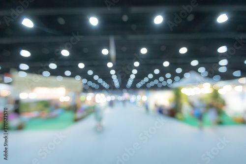 Fototapeta Blurred background of the conference and exhibition hall
