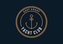 Yacht Club Logo. Nautical Badg...