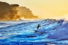 Sea Bronte Surfers Cliffs Wave