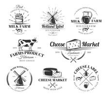 Vintage Cheese Labels Set