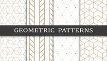 Set Of Geometric Seamless Patt...