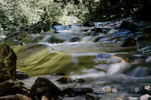 Krajobraz Kaskady Wodne Z Duż...