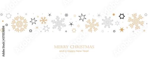 Fototapeta christmas card with snowflake border vector illustration EPS10 obraz