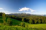 Fototapeta Krajobraz - Przełęcz nad Łapszanką Panorama Tatr