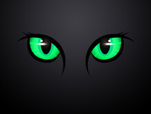 Illustration Of Green Cat Eyes