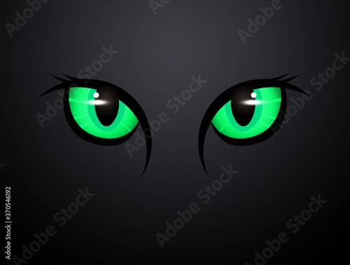 Fotografija illustration of green cat eyes