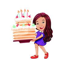 Bambina Con Torta
