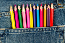 Colored Pencils Sticking Out O...