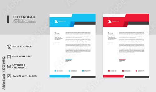 Fototapeta Modern company letterhead design template obraz