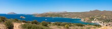 The View From The Temple Of Poseidon, Cape Sounion, The Southernmost Point Of The Attica Peninsula, Greece