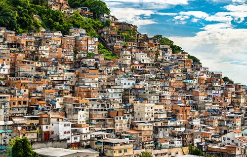 Fototapeta Favela Cantagalo in Rio de Janeiro - Brazil