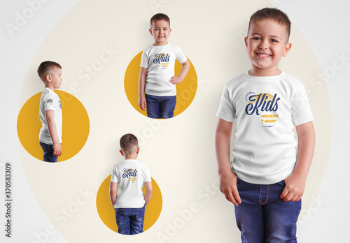 Obraz 4 Kids T-Shirt Mockups for Boys - fototapety do salonu