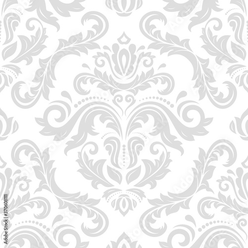 Tapeta Ecru  classic-seamless-vector-light-pattern-damask-orient-ornament-classic-vintage-light-background-orient-ornament-for-fabric-wallpaper-and-packaging