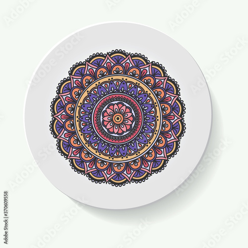 Fotomural decorative plates for interior design