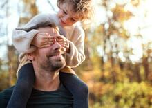 Mature Father Giving Piggyback...