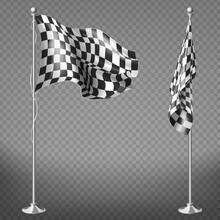 Vector Set Of Checkered Racing...