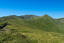 The Route To The Summit Of Helvellyn Via Striding Edge Ridge